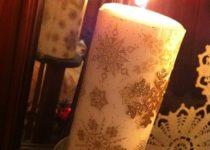 Новогодние свечи своими руками