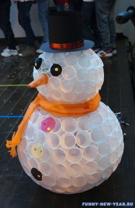 Поделки на улицу из снега для детского сада к новому году своими руками