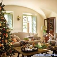 Красиво украшаем комнату к Новому году 2017
