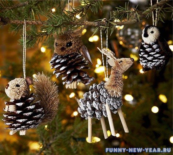 Креативные украшения для елки
