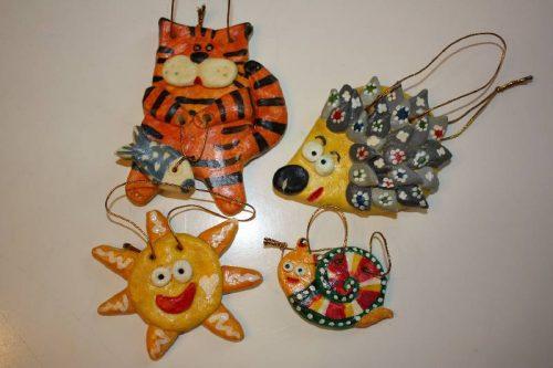 Поделки игрушек из соленого теста