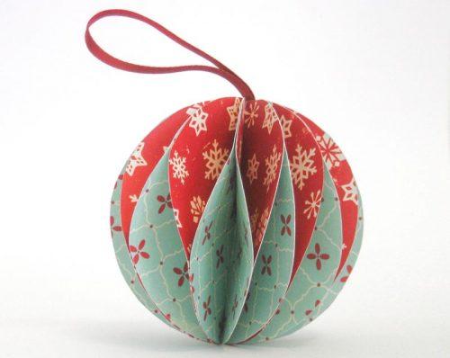 Сделать новогодние игрушки своими руками из цветной бумаги