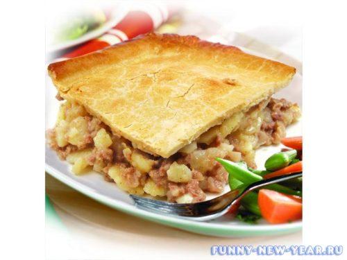 Картофельно-мясной пирог