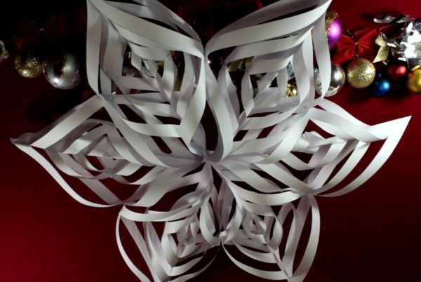 Christmas snowflake with their hands