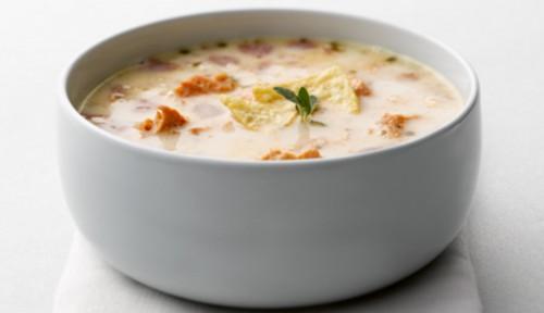Суп из кеты и грибов