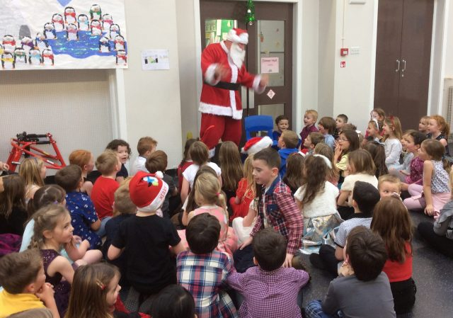 Christmas party at the school