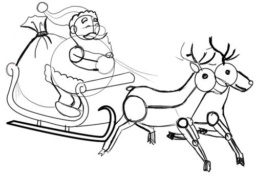 Санта на санях