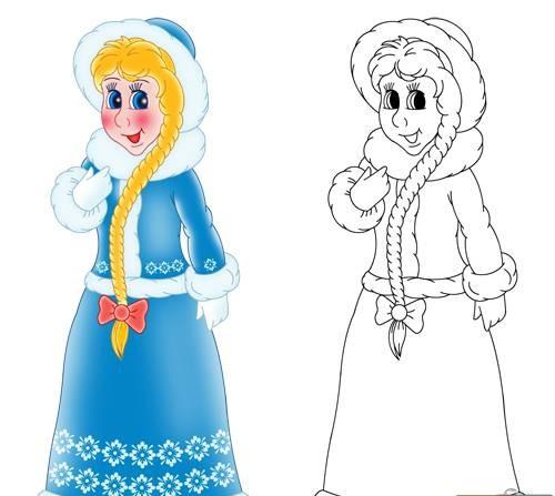 Как нарисовать снегурочку