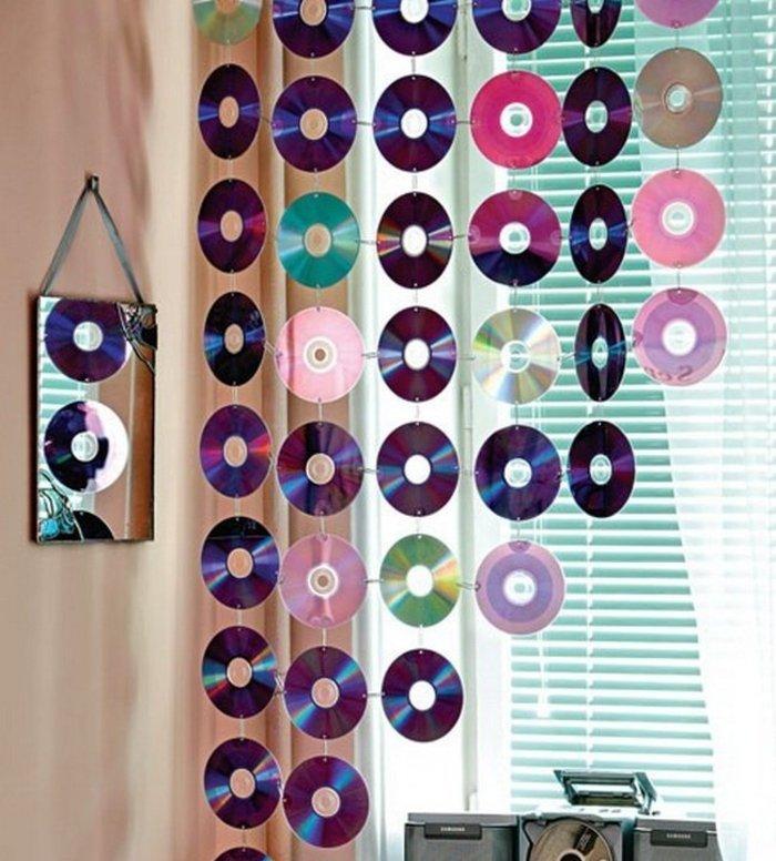 Как сделать занавески из дисков