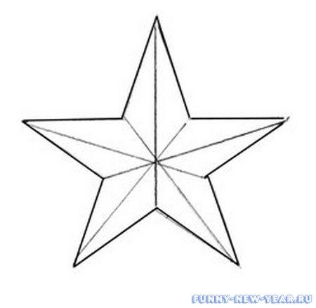 Как сделать чертеж звезды