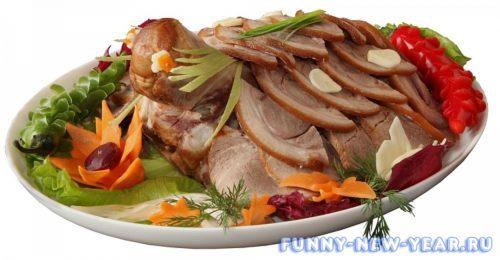 Нарезка из свиного мяса