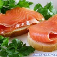 Готовим бутерброды с красной рыбой к Новому году 2017