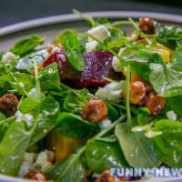 Салат из шпината к Новому году 2017