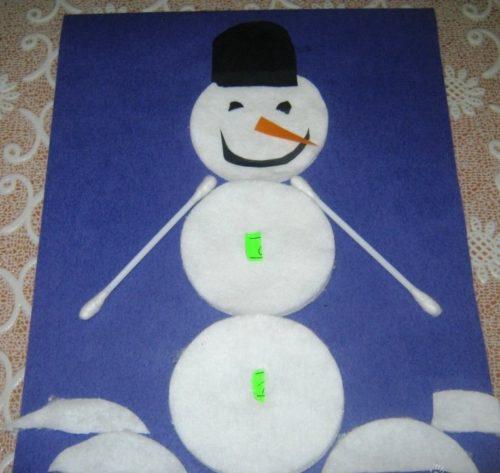 Аппликации снеговик своими руками