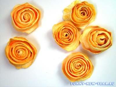 Розы из мандарин