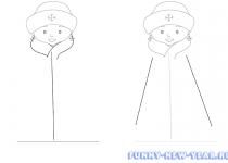 Как нарисовать снегурочку 2