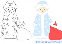 Как нарисовать снегурочку 3