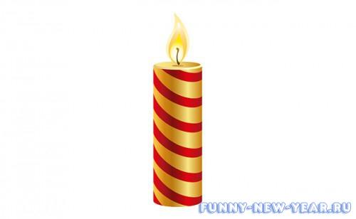 Как нарисовать свечу в подсвечнике 3