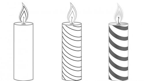 Как нарисовать свечу 2