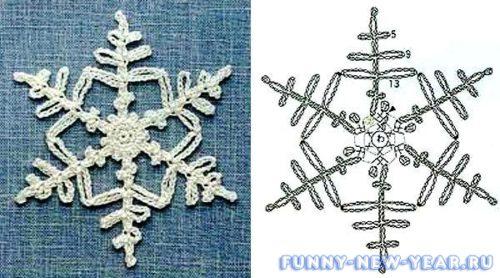 Снежинка из бисера