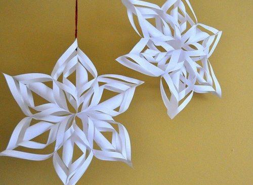 Изготовление снежинок к новому году