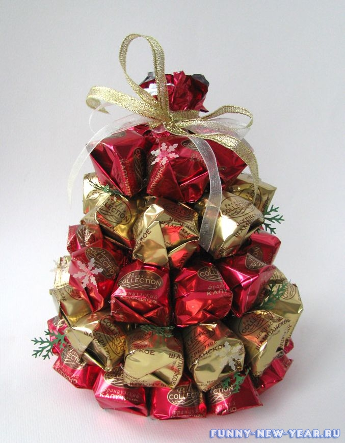 Сделать новогодние подарки из конфет своими руками