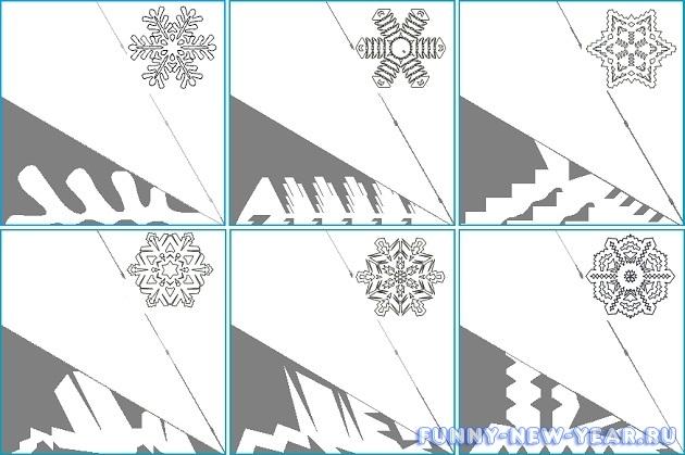 Инструкция изготовления бумажной снежинки