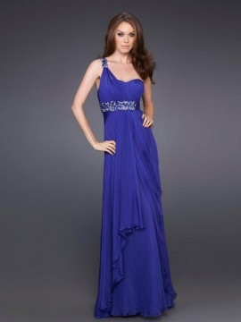 Royal-Blue-Chiffon-One-Shoulder-Sweetheart-Neckline-Sleeveless-Floor-Length-Evening-Dress--SG0109