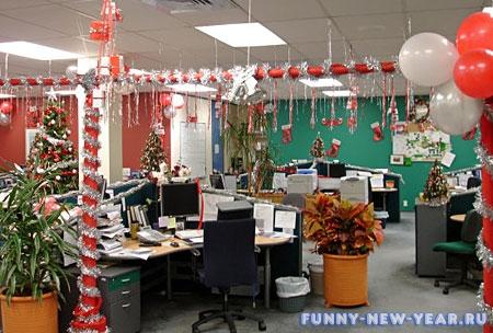 Украшение офиса своими руками к новому году с фото