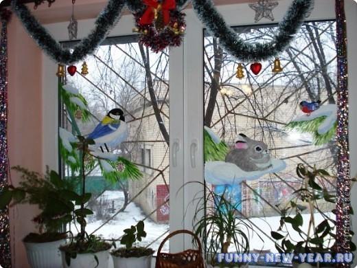 Как украсить окна на новый год своими