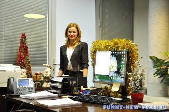 Украшение кабинета на новый год 2013 фото