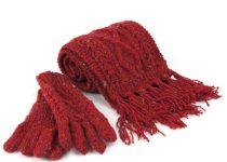 набор из шарфа и перчаток