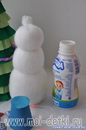 Как сделать снеговик своими руками из ниток