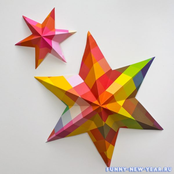 3д звезда из бумаги своими руками