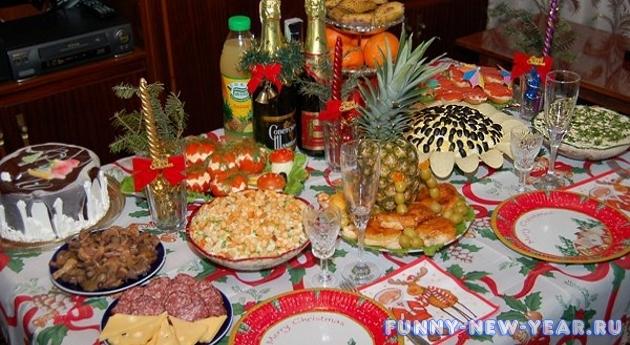 праздничный стол фото