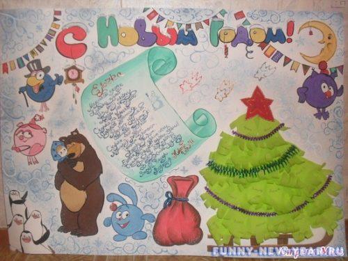 Новогодний плакат своим руками