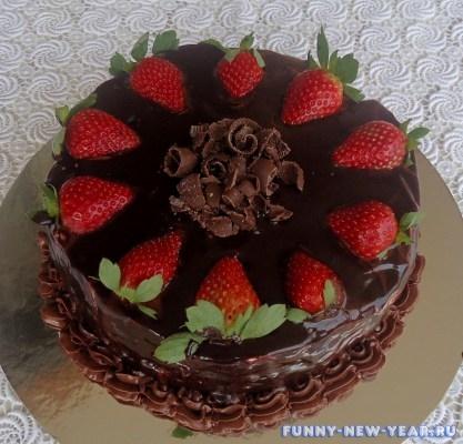 торт с шоколадом и желе