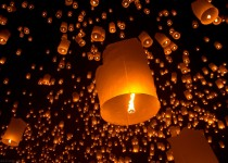 Воздушные фонарики фото