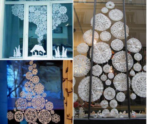 97 оригинальных фото идей, как украсить окна на Новый год 2020 своими руками