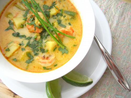 Суп пюре с креветками