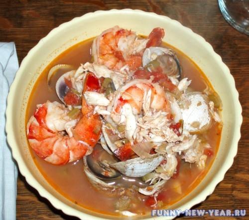 Супа-пюре из морепродуктов