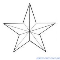 Как нарисовать звезду на елку к Новому году 2017