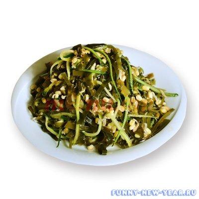 Салат с ламинарией и фасолью
