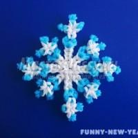 5 фото идей прикольных поделок из резинок на Новый год 2018 своими руками