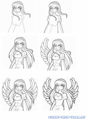 Ангел поэтапно