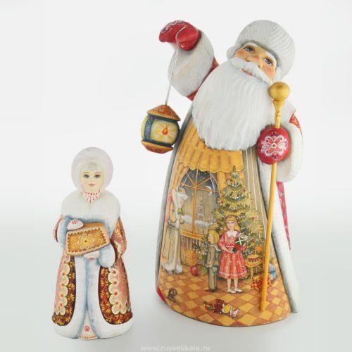 Дед Мороз из дерева