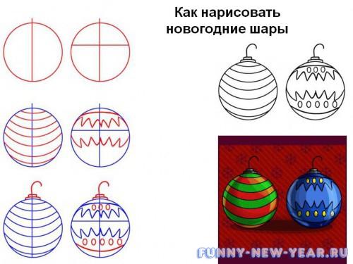 Рисуем новогодние шары