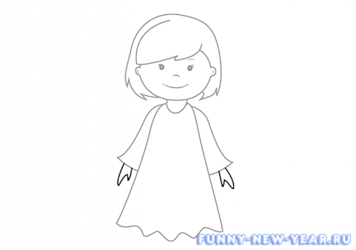Как нарисовать ангела основа