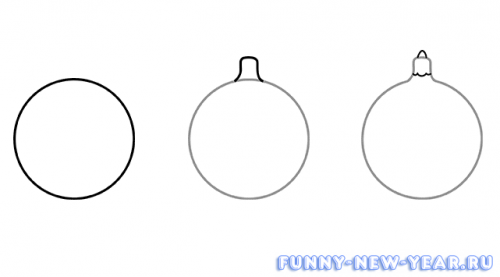 Новогодние шары карандашом