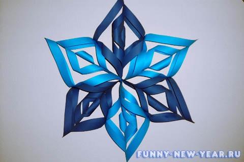 Аппликация «Снежинка из картона»